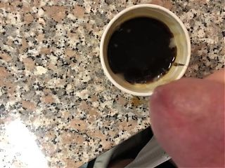 Cumshot in the coffee break