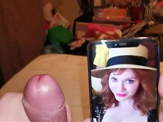 Christina Hendricks cum tribute 2 part 1