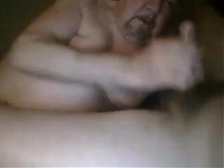 Sexy daddy chub bear blowing grampa on cam grandpa