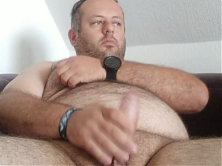 Exposed fag Steruks strokes his dick