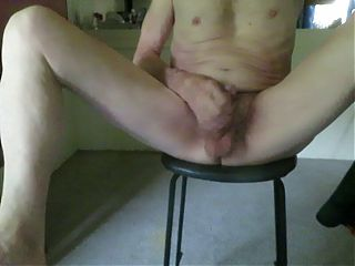 Panty twink spreads his legs and masturbates.