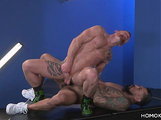 Hung tattooed latino men fucking each other