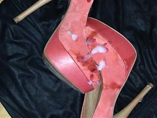 Cum on GF Suede Plateu High Heels (5. Shot)