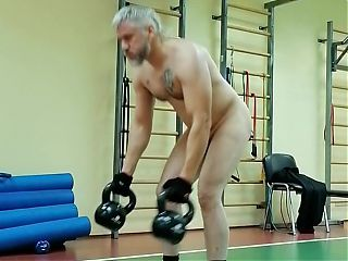 A bit of naked fitness.