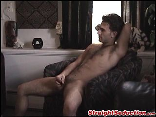 Paulie strips down to his playboy boxers and flops his cock