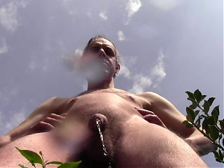 HUGE PISS SHOWER OUTDOOR, NAKED IN PUBLIC, AMATEUR SOLO MALE